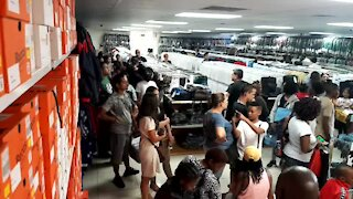 SOUTH AFRICA - Cape Town - Back-to-School - shopping for school uniforms (wBm)