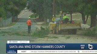 Santa Ana wind storm hammers San Diego County