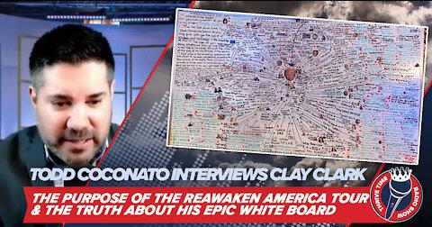 "Todd Coconato Interviews Clay Clark: The Purpose of the ReAwaken America Tour & ""The Whiteboard"""