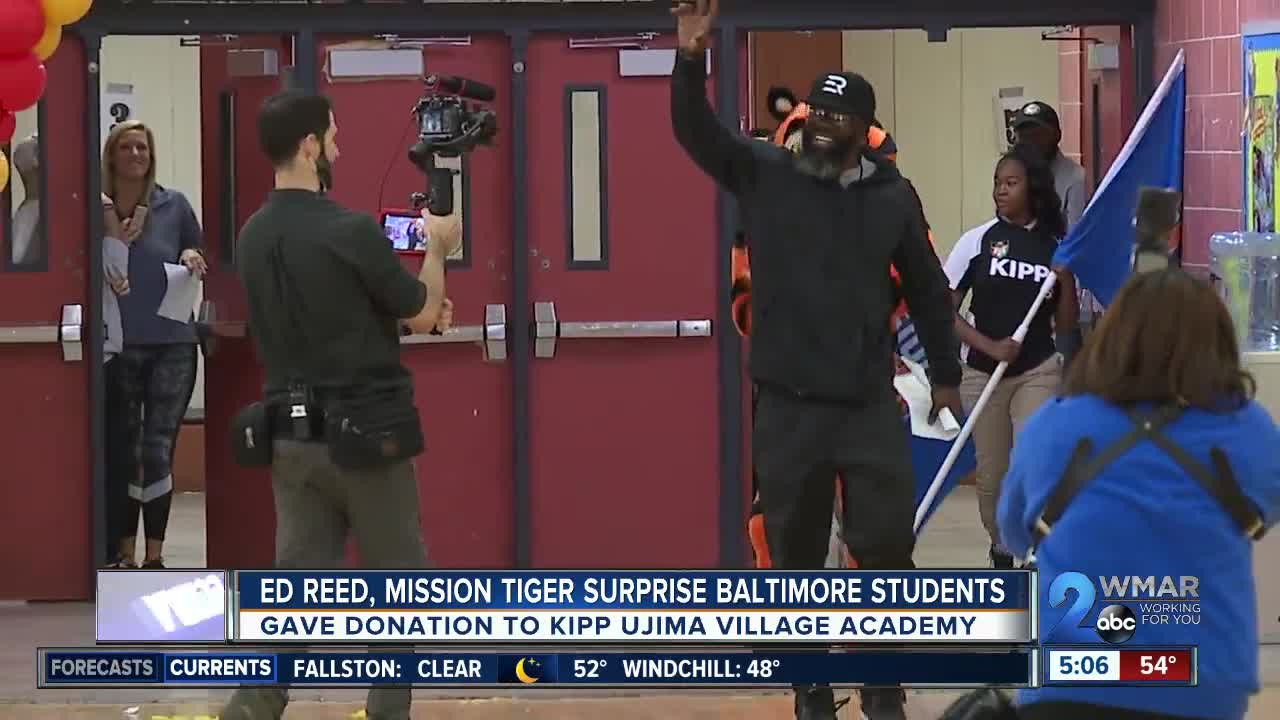 Ed Reed, Mission Tiger surprise Baltimore students