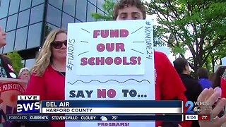Educators and activists rally to increase funding for Harford County Public Schools