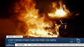 Driver nowhere to be found after car found on fire on SR-52