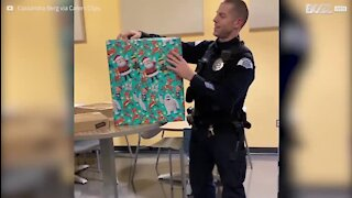 Un très cadeau touchant pour un policier en deuil