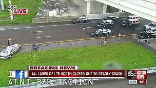 Deadly wrong-way crash closes I-75 northbound in Hillsborough County