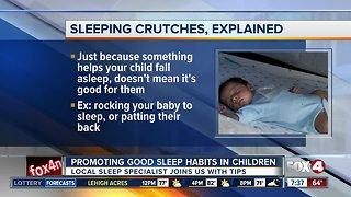 Promoting good infant sleep habits