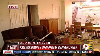 Crews survey storm damage in Beavercreek