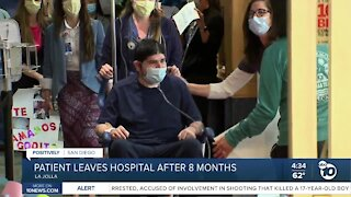 Patient leaves hospital after 8 month stay