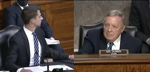 Tom Cotton Leaves Dick Durbin Speechless After Durbin Interrupts Him in Senate Hearing