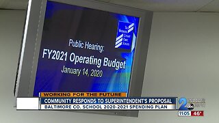 Community responds to Baltimore County superintendent's proposal
