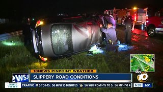 Rain-slicked roads lead to crashes across county