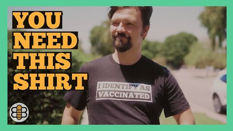 """Get Your """"I Identify As Vaccinated"""" T-Shirt Today!"""