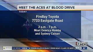 Las Vegas Aces blood drive