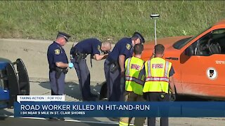 Road worker killed in hit-and-run crash on eastbound I-94 in St. Clair Shores