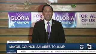 Gloria to take over as city doubles pay for mayor