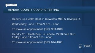 Hendry County provides Covid-19 testing