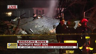At least one person injured in Detroit home explosion