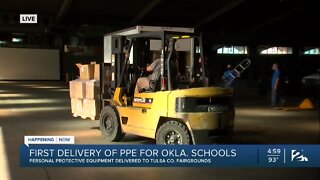 Schools picking up PPE in Tulsa