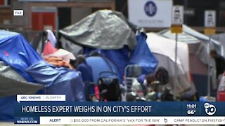 Homeless expert weighs in on San Diego's efforts