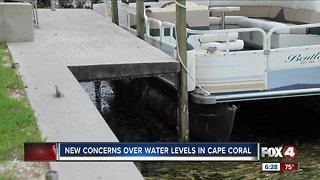 New concerns over water levels in Cape Coral