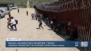 President Biden addresses border crisis in the U.S.