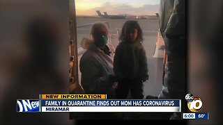 Family in quarantine at Miramar finds out mother now has Coronavirus in China