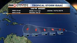 Tropical Storm Isaac Update 9-8 PM