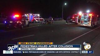 SUV hits, kills pedestrian on Spring Valley street