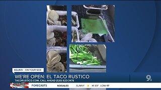 El Taco Rustico offering curbside service