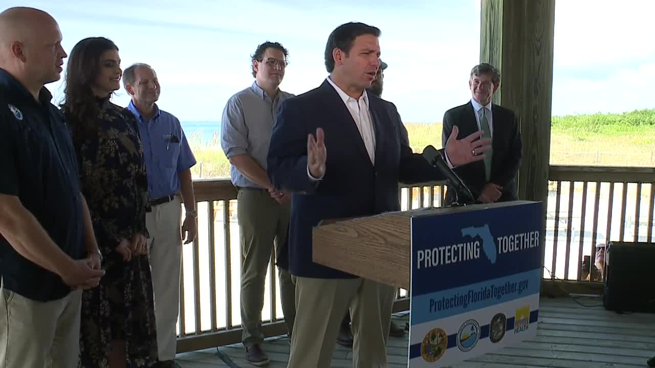 Press conference: Gov. DeSantis announce new state water quality website