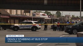Deadly stabbing at bus stop
