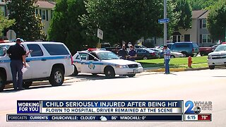 Child seriously injured after being struck by a minivan