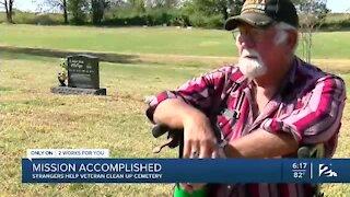 Strangers help veteran cleanup cemetery