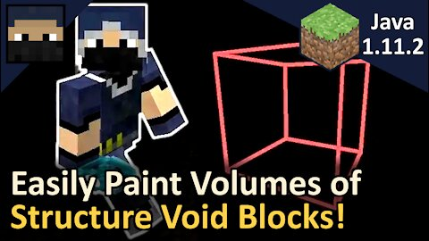 Void Painting! How to Quickly Place Void Blocks! Minecraft Java 1.11.2