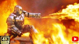 Iron Man vs Terrorists Fight Scene - Iron Man 2008 [ 4K UHD ]