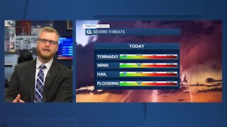 Power of 5 meteorologist Trent Magill tracks potentially damaging afternoon storms
