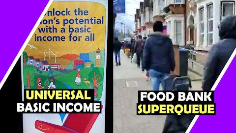 Universal Basic Income and Food Bank SUPERQUEUE / Hugo Talks #lockdown
