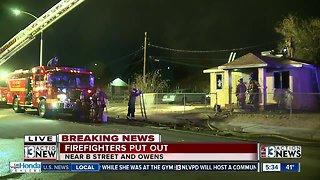 House fire near B Street and Owens