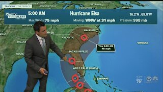 Center of Hurricane Elsa expected to stay in Gulf of Mexico