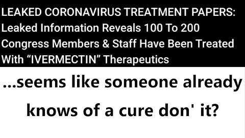 ...seems like someone already knows of a cure don' it?