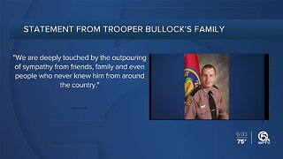 Statement released by Trooper Bullock's family