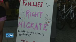 Hundreds protest immigration policies