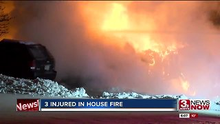 Overnight house fire injuries