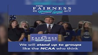 Governor Ron Desantis calls Women's Sports Act a way to protect women