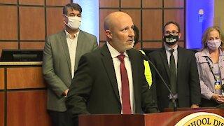 Lee County School District Superintendent Greg Adkins resignation announcement