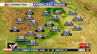 County Forecast Highs Morning Weather Update