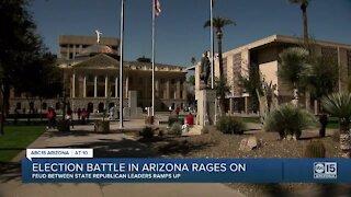 Feud between Arizona Republican leaders ramps up
