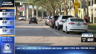 Parking at the Super Bowl Experience