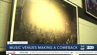 Music venues making a comeback