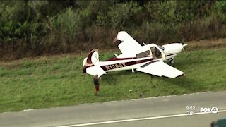 Small plane lands on I-75