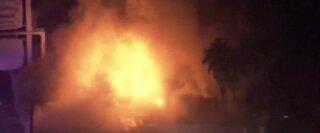 LVFR: 2-alarm fire destroys wedding chapel in downtown Las Vegas